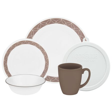 Livingware™ Sand Sketch 20-pc Dinnerware Set w/ Lids