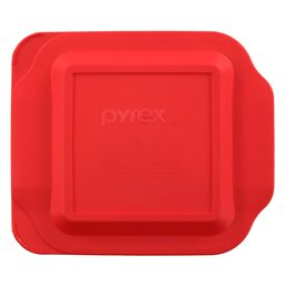 "Plastic Lid 8"" x 8"" Square, Red"