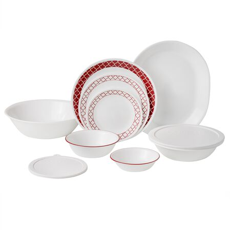 Livingware™ Crimson Trellis 74-pc Dinnerware Set