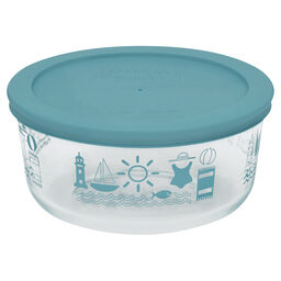Simply Store® 4 Cup Summer Fun Storage Dish w/ Turquoise Lid