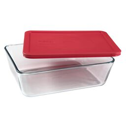 Simply Store® 11 Cup Rectangular Dish w/ Red Lid