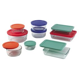 Storage Plus® 18-pc Set w/ Multi-Colored Lids