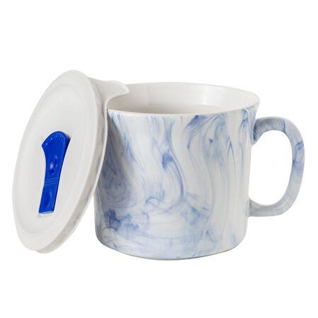 20-oz Meal Mug™ w/ Lid, Marble Marine Blue