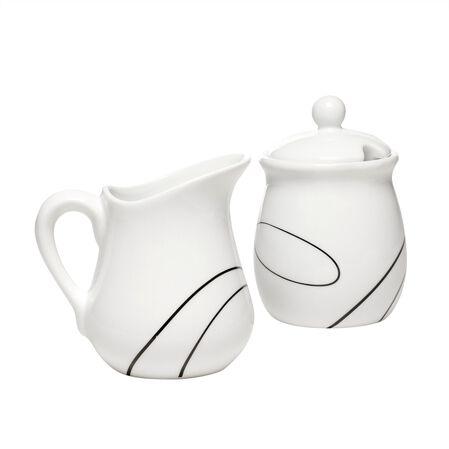 Sugar & Creamer Set Coordinates w/ Corelle® Simple Lines - Corelle