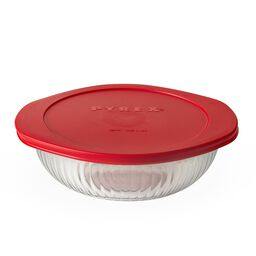 2-qt Sculpted Casserole w/ Red Lid