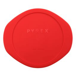 Plastic Lid 2-qt Round, Red