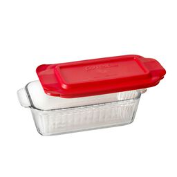 Sculpted 1.5-qt Loaf Pan w/ Red Lid