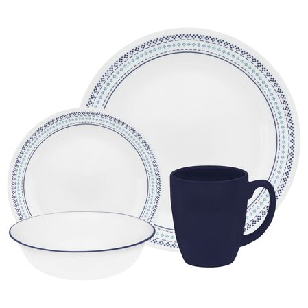 Livingware™ Folk Stitch 16-pc Dinnerware Set