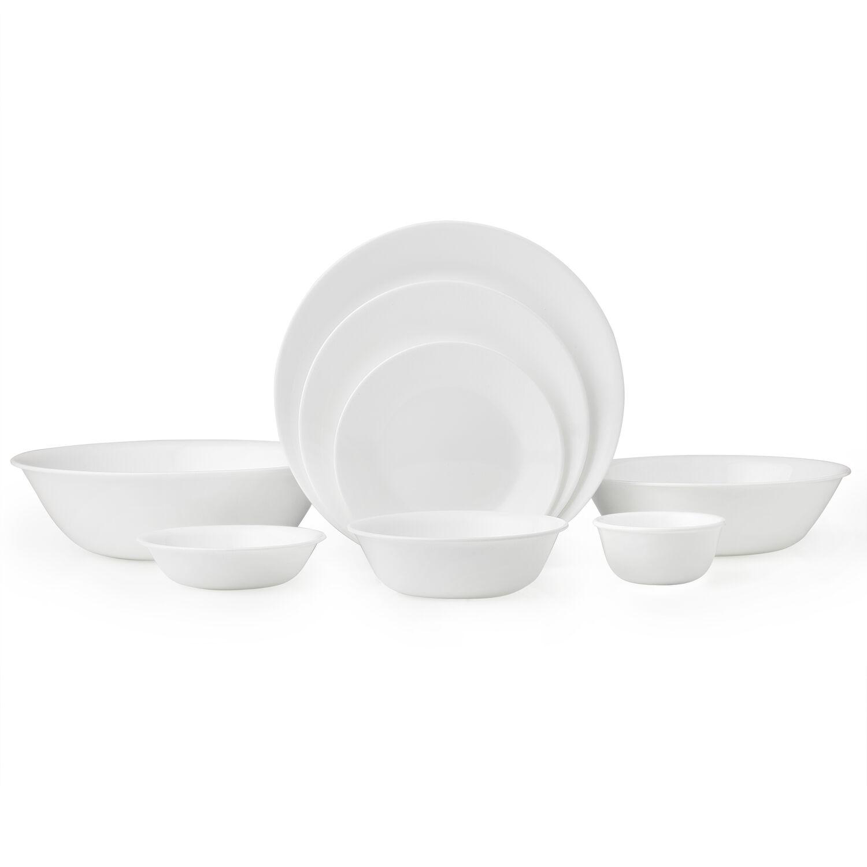 Livingware Winter Frost White 50p Dinnerware Set Corelle