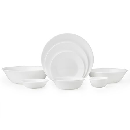 Livingware™ Winter Frost White 50-pc Dinnerware Set