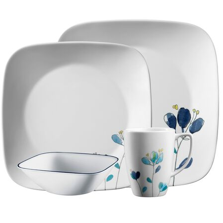 corelle square dalena 16 pc dinnerware set corelle