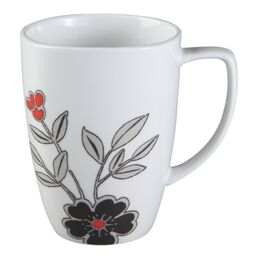 Square™ Mandarin Flower 12-oz Porcelain Mug