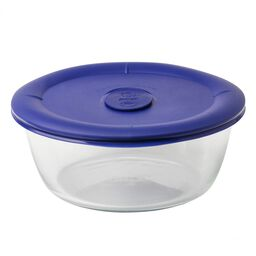 Pro 5-cup Round Storage Dish w/ Blue Vented Lid