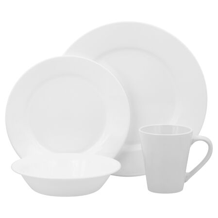 Lifestyles™ Shimmering White 16-pc Dinnerware Set
