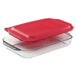 4-qt Oblong Baking Dish w/ Red Lid