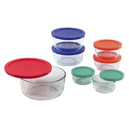 Storage Plus® 14-pc Set w/ Multi-Colored Lids