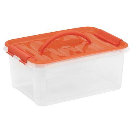 "Smart Store® 14"" x 6"" Home Storage Container w/ Orange Handles"