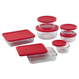Storage Plus® 14-pc Set w/ Red Lids