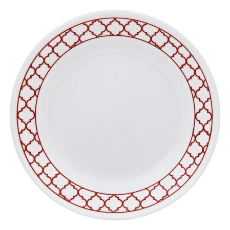 "Livingware™ Crimson Trellis 6.75"" Plate"
