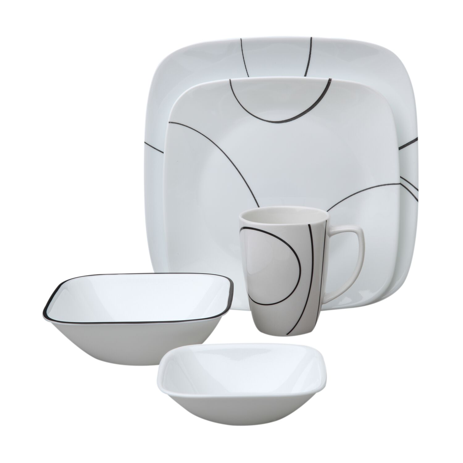 Square Simple Lines 30 Pc Dinnerware Sets Corelle 174