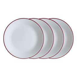 "Livingware™ Radiant Red 8.5"" 4-pc Plate Set"