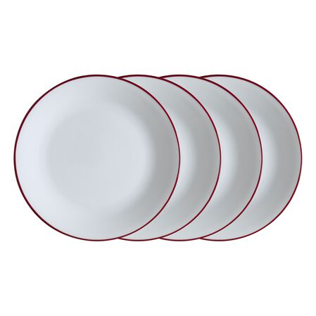 "Livingware™ Radiant Red 4-pc 8.5"" Plate Set"