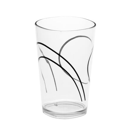 Coordinates® Simple Lines 8-oz Acrylic Glass