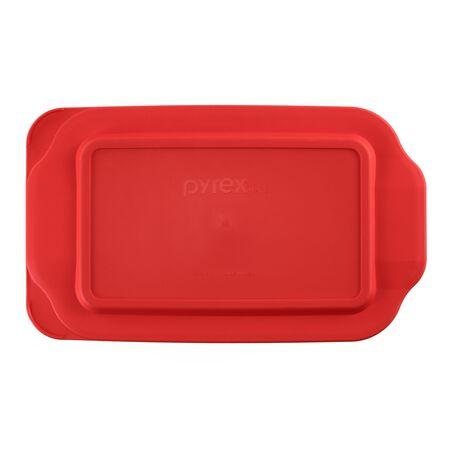 Plastic Lid 2-qt Oblong, Red