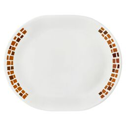 "Boutique™ Precious Colors 12.25"" Oval Platter, Amber Copper"