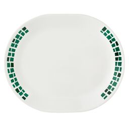 "Boutique™ Precious Colors 12.25"" Oval Platter, Emerald Green"