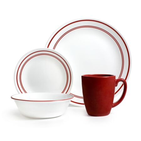 Livingware™ Classic Café Red 16-pc Dinnerware Set