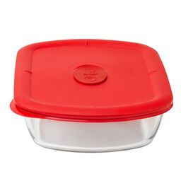 Pro 5-cup Rectangle Storage Bowl w/ Red Vented Lid