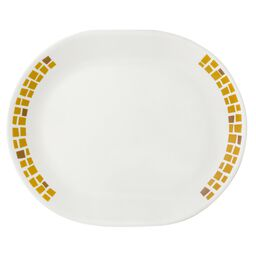 "Boutique™ Precious Colors 12.25"" Oval Platter, Yellow Gold"