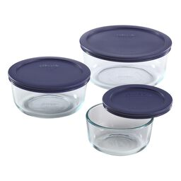 Simply Store® 6-pc Round Set w/ blue lids
