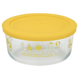 Simply Store® Summer Fun 4 Cup Storage Dish w/ Yellow Lid