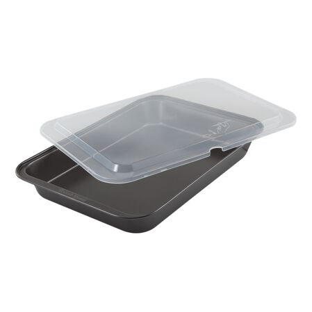 """Essentials Cook 'N Carry 9"""" X 13"""" Cake Pan"""