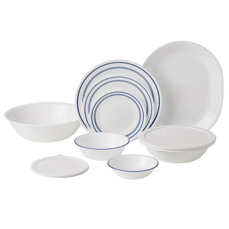 Livingware™ Classic Café Blue Set 74-pc Dinnerware Set