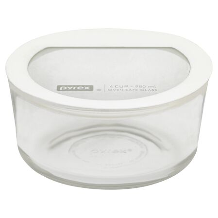 Ultimate 4 Cup Round Storage Dish, White