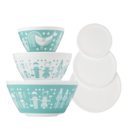 Rise N' Shine 6-pc Mixing Bowl Set, inspired by Pyrex®