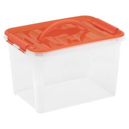 "Smart Store® 14"" x 9"" Home Storage Container w/ Orange Handles"