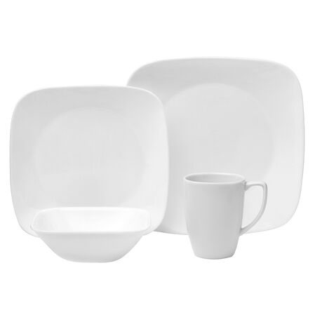 Square™ Pure White 16-pc Dinnerware Set