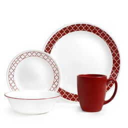 Livingware™ Crimson Trellis 16-pc Dinnerware Set
