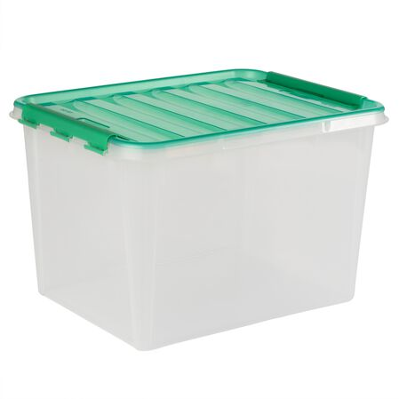 """Smart Store® 18"""" x 12"""" Home Storage Container w/ Kelly Green Handles"""