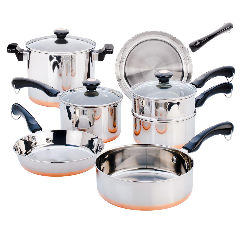 Revere® Copper Bottom 10-pc Cookware Set