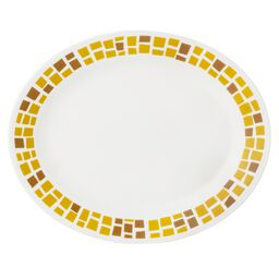"Boutique™ Precious Colors 9.5"" Oval Platter, Yellow Gold"