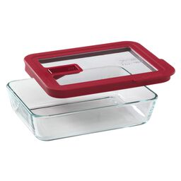 No-leak Lids™ 3 Cup Rectangle Storage Dish