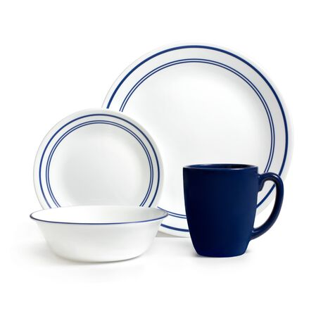 Livingware™ Classic Café Blue 16-pc Dinnerware Set