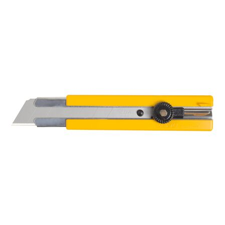 Rubber inset grip ratchet-lock utility Knife (H-1)