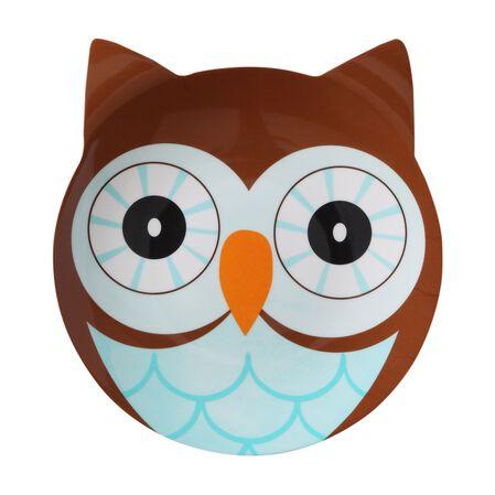Friendly Faces Melamine Owl Plate