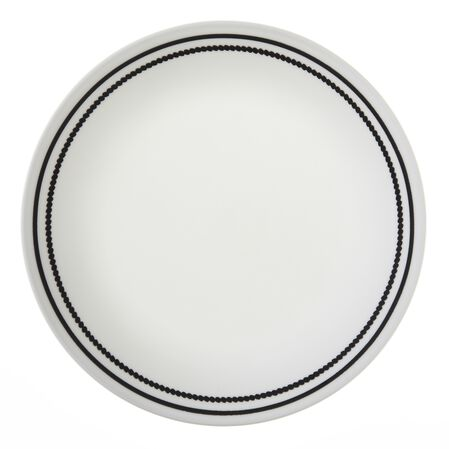 "Livingware™ Brilliant Black Beads 8.5"" Plate"